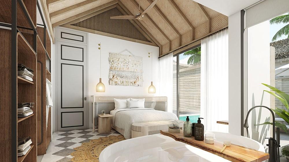 mini-hotel lấy cảm hứng kiến trúc từ thiết kế Amalfi phóng khoáng của những khối nhà cao tầng trải dài trên vách đá ngoạn mục bên bờ biển xanh ngọc,