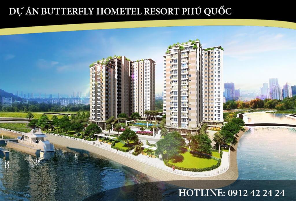 Butterfly Phú Quốc là dự án bất động sản thuộc phân khúc cao cấp bao gồm biệt thự đơn lập và nhà ở liền kề