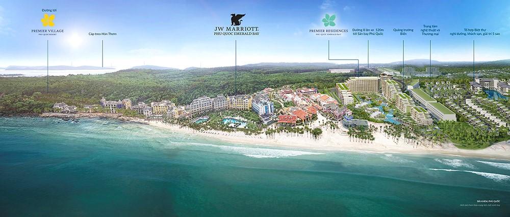 Khu Nghỉ Dưỡng JW Marriott Phu Quoc Emerald Bay được nhận mức lợi nhuận tối thiểu lên tới 9%/năm trong 9 năm