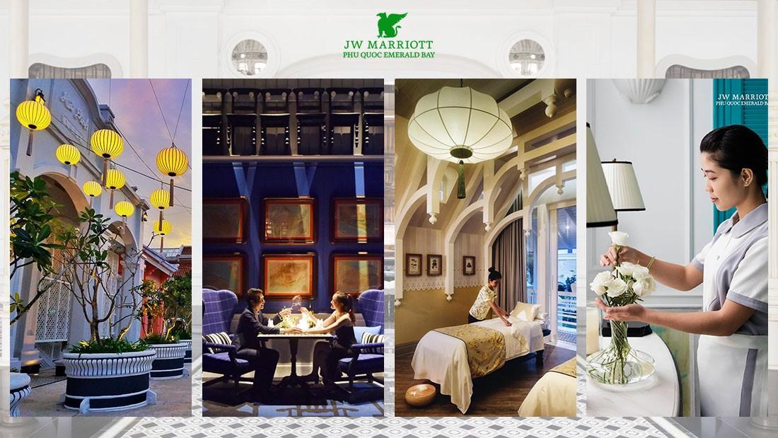 Khu Nghỉ Dưỡng JW Marriott Phu Quoc Emerald Bay với 244 phòng, suite, căn hộ và villas được thiết kế dựa trên ý tưởng về một trường đại học danh tiếng hàng đầu Việt Nam – Lamarck University