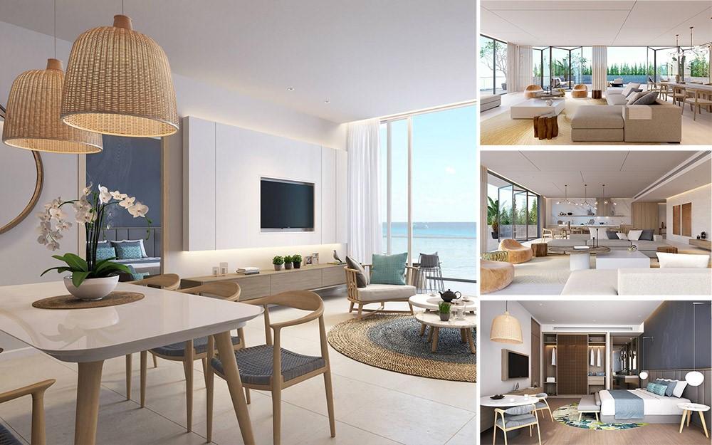 Premier Residences Phu Quoc Emerald Bay được thiết kế mang hơi thở thiên nhiên biển với diện tích từ 35m2 – 288m2